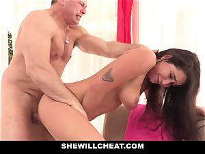 SheWillCheat cuckold gf Karlee Grey romps Trainer