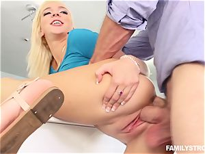 Tiffany Watson deep-throating off her step step-brother