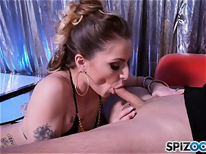 mischievous little stripper Alana Summers gets a facial
