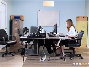 dirty office stunner Dillion Harper gets shafted at work