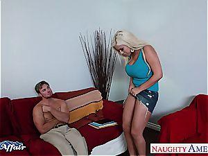 blondie Bridgette B. wants her neighbors jizz-shotgun inside her