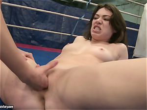 Mandy Dee lusty babe with hot gal have a rock-hard fight
