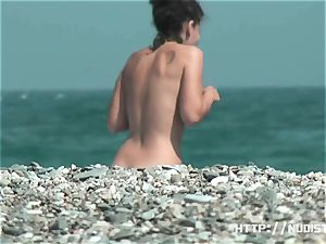 ultra-cute youthful tits - beach hidden cam movie