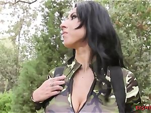 huge-boobed babes love bondage anal with wire on