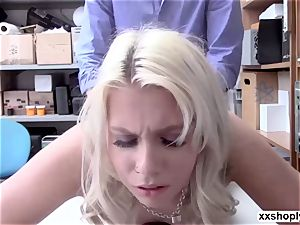 light-haired Shoplifter Chanel Grey let perveted LP smashes pussy