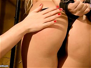 Kathia Nobili kinky jail guard torturing a warm honey